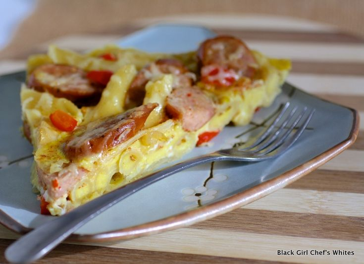 Three Cheese Italian Style Sausage and Penne Frittata | Black Girl ...
