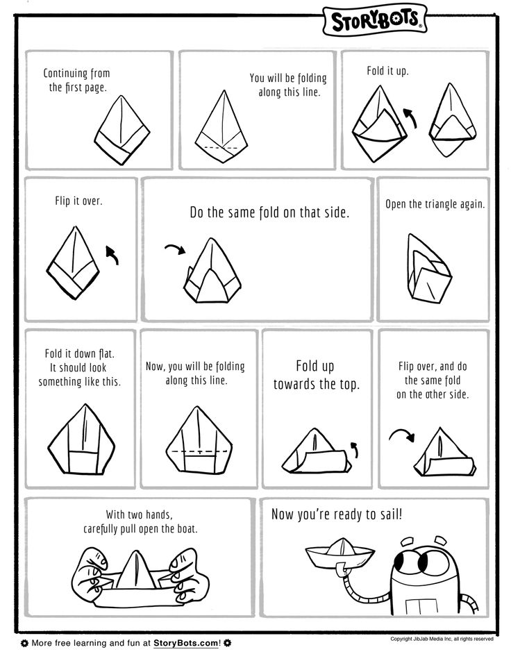 how to fold a paper boat part 2 for the kids pinterest. Black Bedroom Furniture Sets. Home Design Ideas