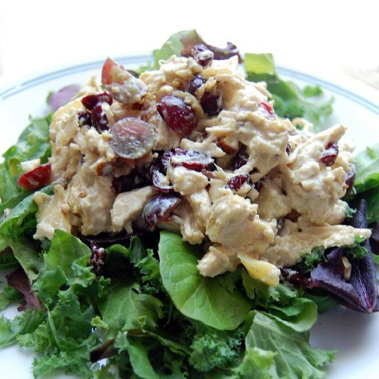salad with mango chicken pot pie bites curried chicken salad bites