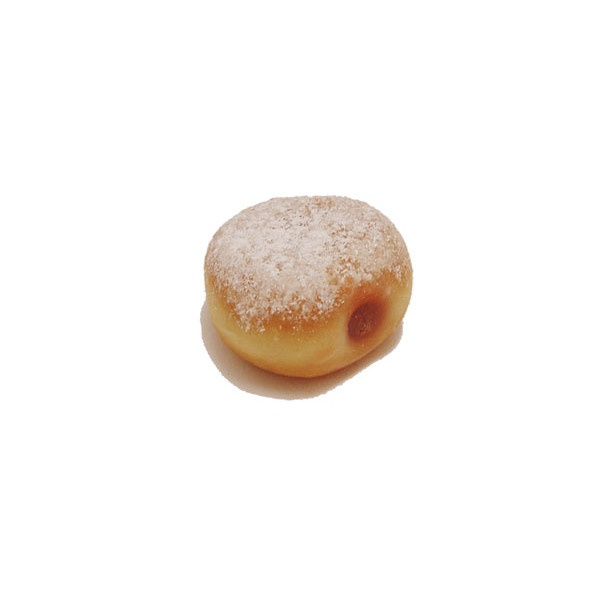 Pancake Meow - Strawberry jelly filled donut liked on Polyvore