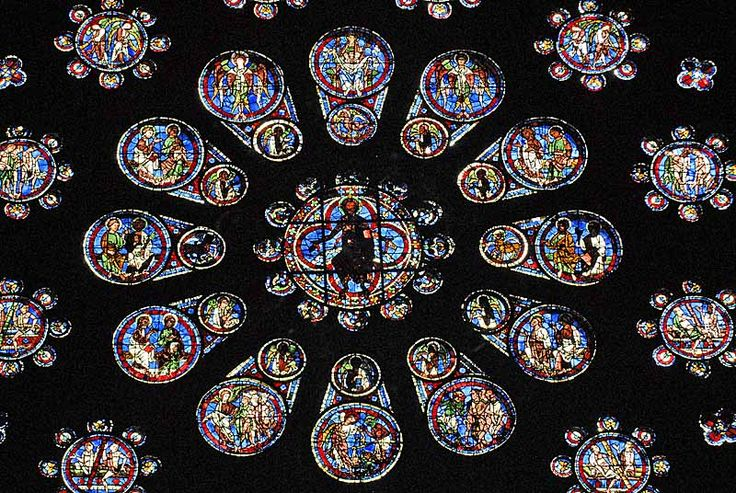 chartres cathedral west rose window gothic architecture