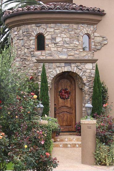 Fachada de piedra fantasy garden project pinterest for Fachadas de piedra