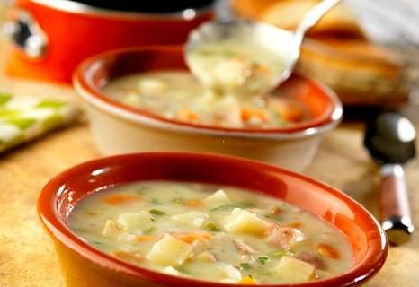 Savory Soup Is Made With Chunks Of Red Potatoes, Carrots, Onion ...