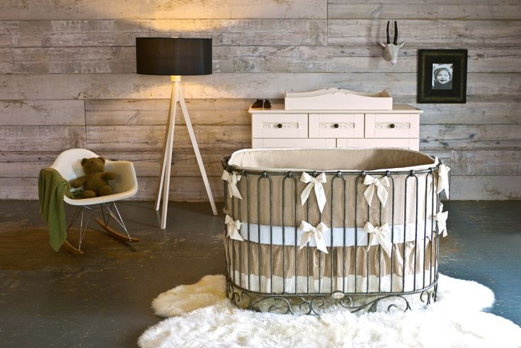 Luxury, style and timeless elegance are the hallmarks of @Bratt Decor - we adore this oval crib because of its modern take on a classic design! #PNapproved