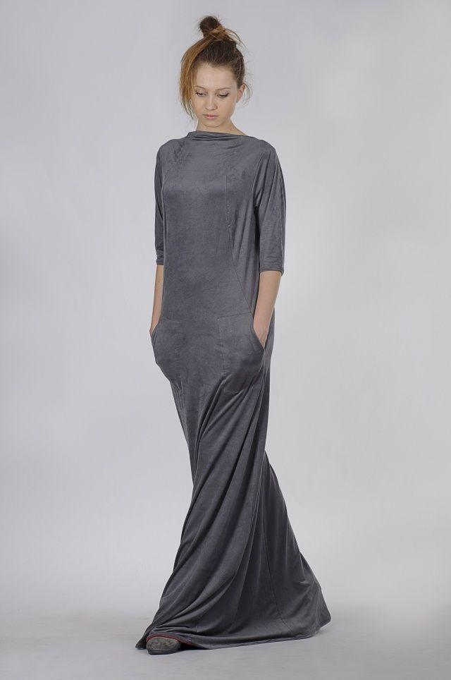 Длинное платье из трикотажа своими руками 90
