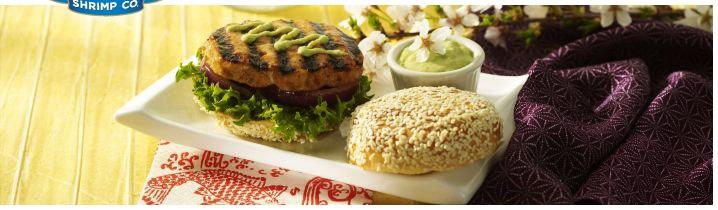 Asian Sesame Salmon Burgers with Wasabi Mayo