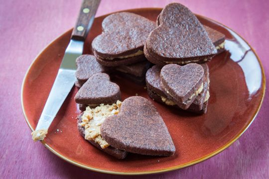 Gluten Free Chocolate Shortbread Sandwich Cookies with Salted ...