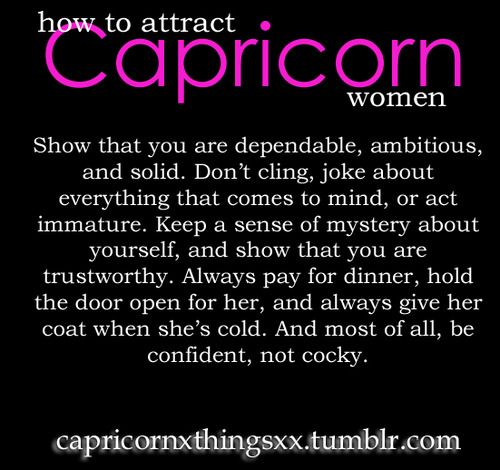 what attracts capricorn