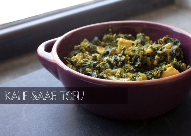 kale saag tofu | Indian food | Pinterest