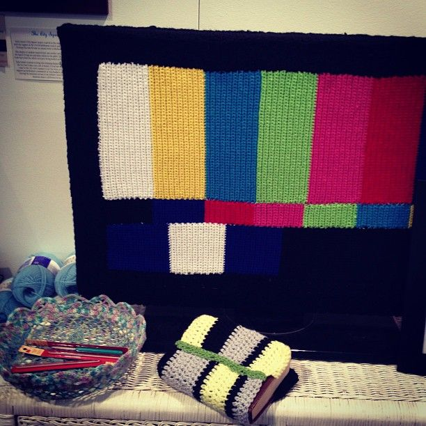 test pattern yarnbomb