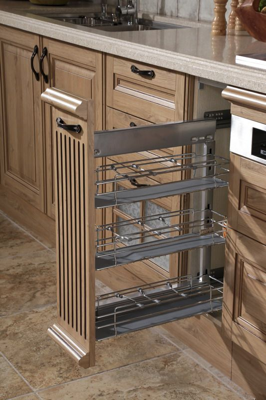 Out basket oppein line type kitchen cabinet with pp finish mod