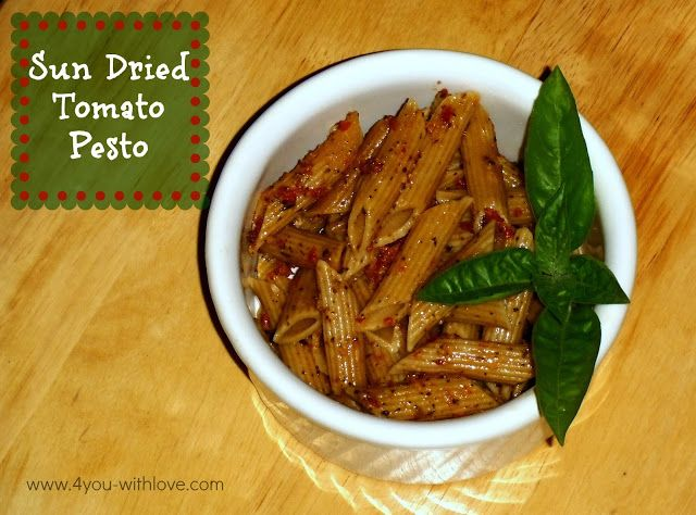 You With Love: Party Thyme, ABCs and 123s - Sun Dried Tomato Pesto