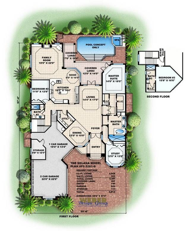 Solana House Plan Weber Design Group Planos Pinterest
