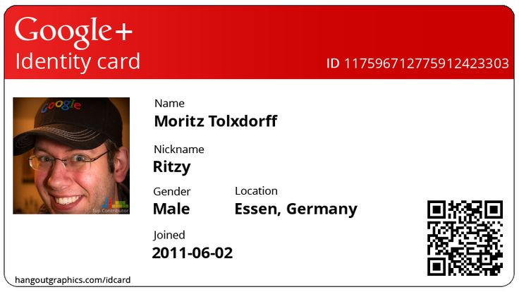 create your own  google   id card
