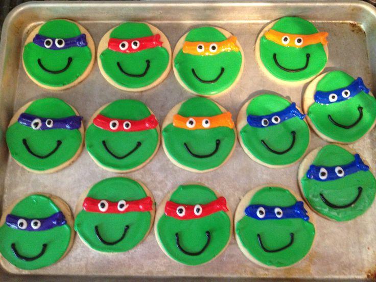 Ninja turtle cookies   Love to Bake!   Pinterest