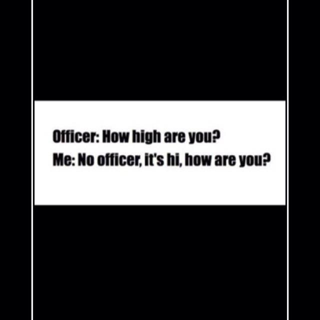 Officer hi?