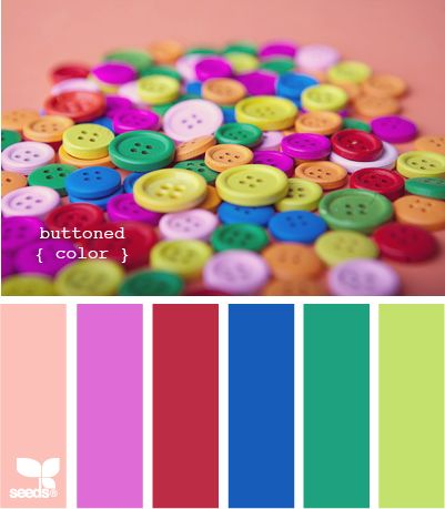 buttoned color ~ ♥ buttons ~ Design Seeds