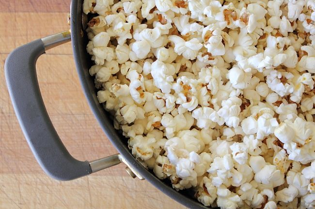 Browned butter & fried sage popcorn. Obsessed!