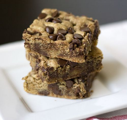 Peanut Butter Chocolate Chip Blondies. Made these twice now, so easy ...