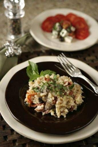 Slow Cooker Mushroom Risotto | sides | Pinterest