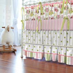 Girly owl crib skirt 250x250 image baby girl nursery pinterest