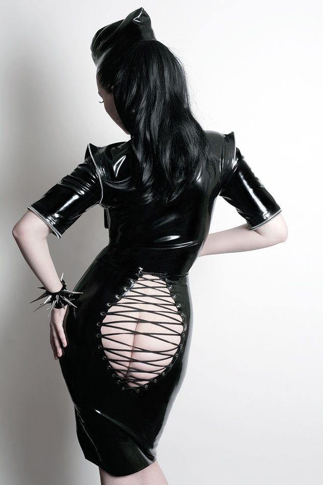 Openback latex amp leather woman clothing pinterest