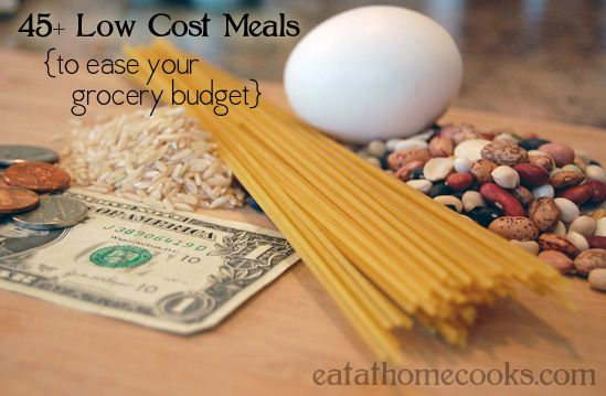 45+ low cost meals
