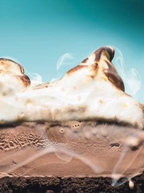 Mexican Chocolate Ice Cream Cake With Orange Meringue Recipes ...