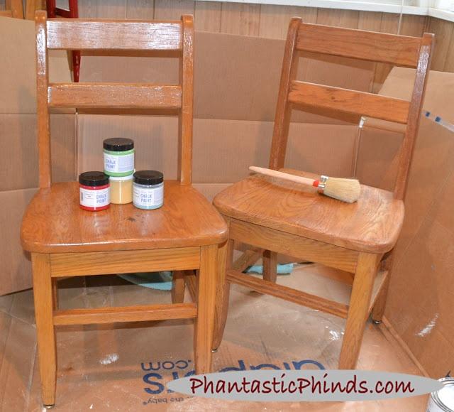 Phantastic Phinds: Chalk Paint™ Vintage Kids Table & Paint Brush Comparison