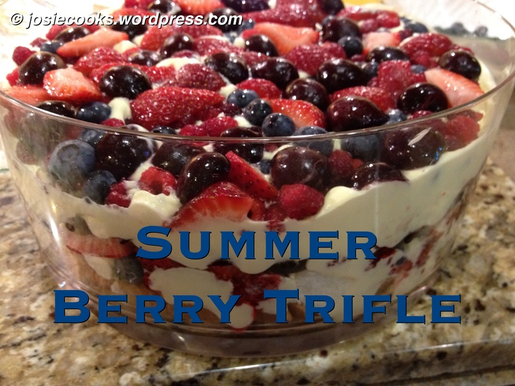 Summer Berry Trifle | Trifle | Pinterest