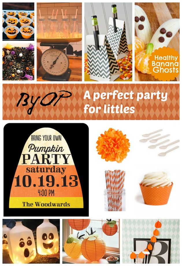 Halloween Party Ideas - BYO Pumpkin party for younger kids.