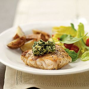 Grilled Grouper with Basil-Lime Pistou Recipe | MyRecipes.com Mobile