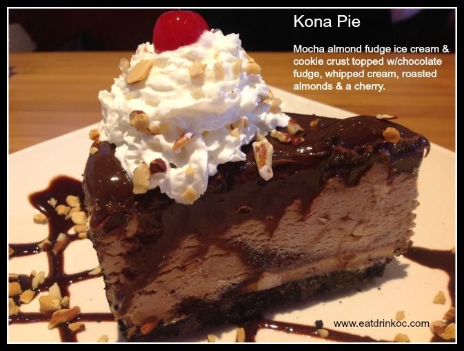 ... with chocolate fudge, whipped cream, roasted almonds & a cherry