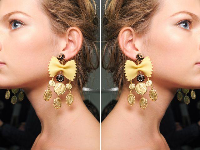 DIY Dolce & Gabbana Pasta Earrings