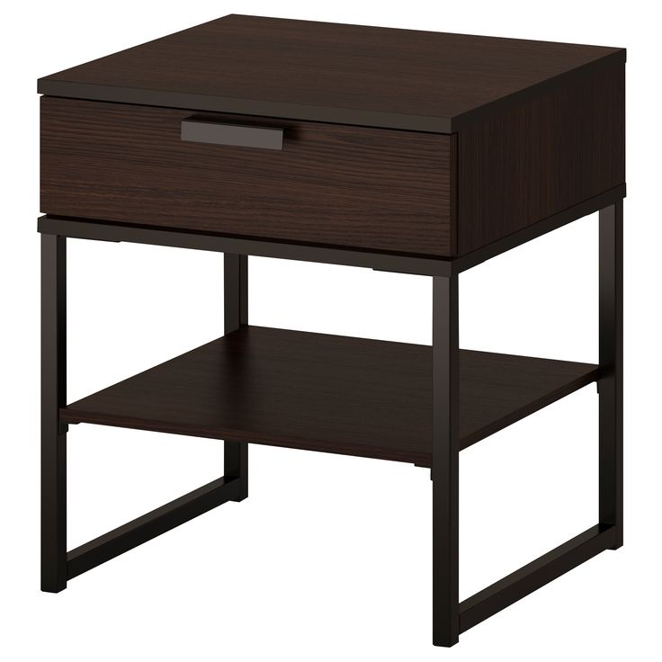 Ikea Grundtal Lights Not Working ~ TRYSIL Nightstand, dark brown, black