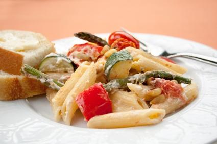 True Lemon, Feta, Zucchini and Tomato Pasta Salad