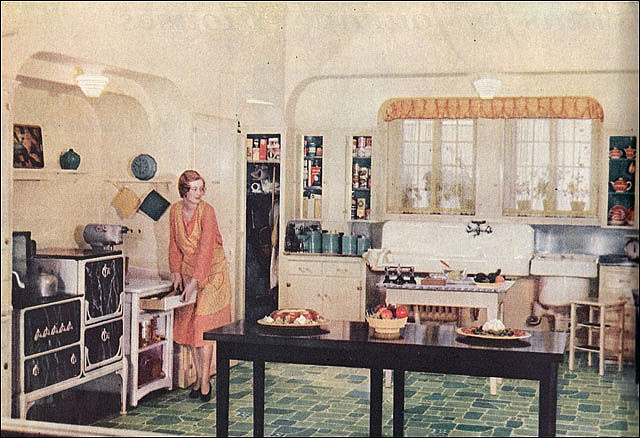 1940s kitchen flooring - wood floors
