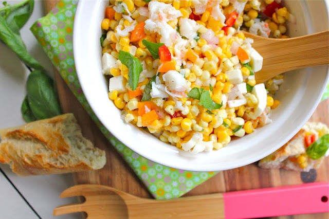 Corn, Tomato, And Lobster Salad Recipe — Dishmaps
