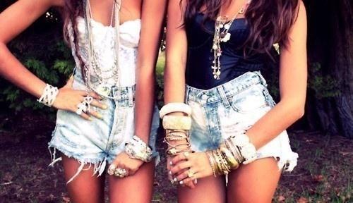 corsets and shorts