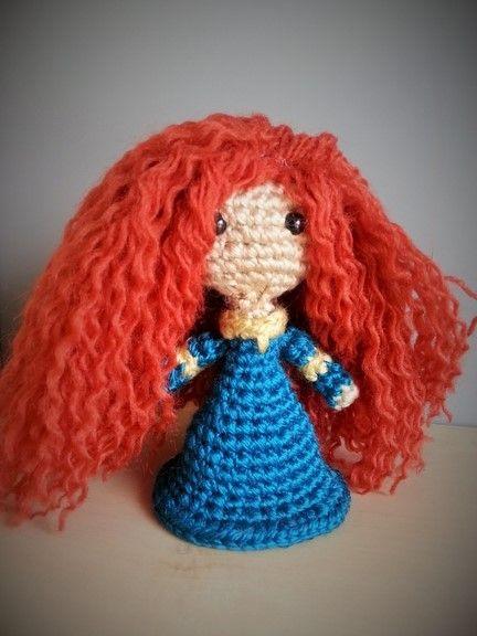 Designer Crochet Amigurumi Patterns Merida Warrior Princess : Merida - Brave Disney Amigurumi Crochet Amigurumi ...
