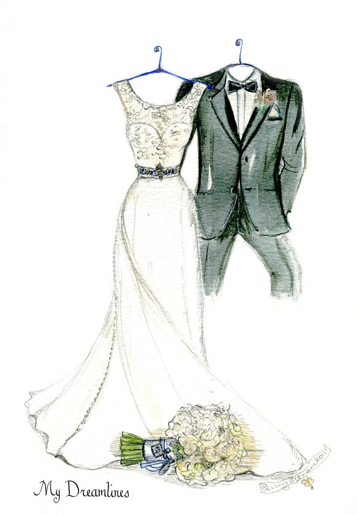 Vintage bride illustration