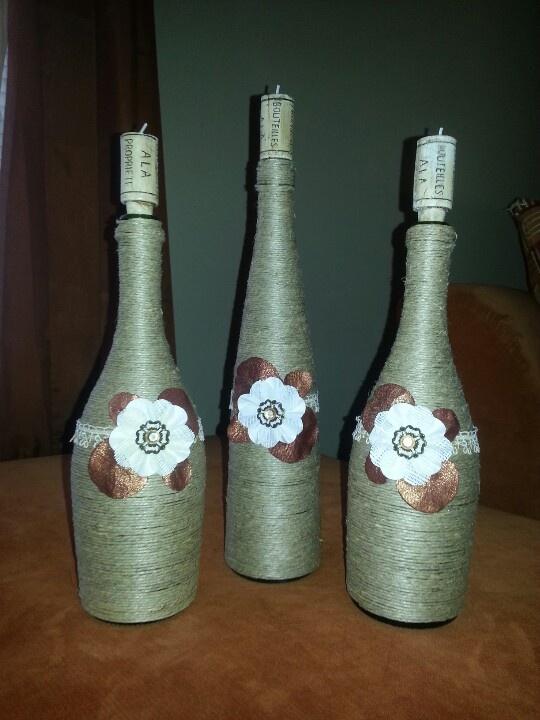 My homemade wine bottle decor wino pinterest for How to make glasses made from wine bottles