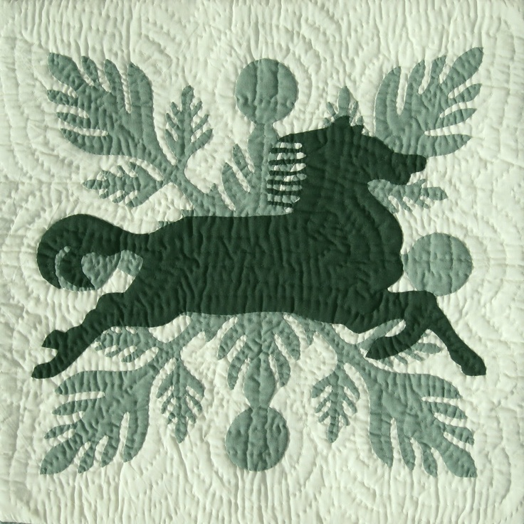The Quilted Horse with Ulu, pattern by Barbara Bieraugel