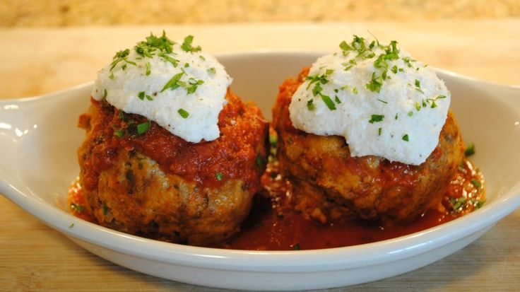 Meatballs Stuffed with Ricotta, a recipe from Apizz in Manhattan (Pho ...