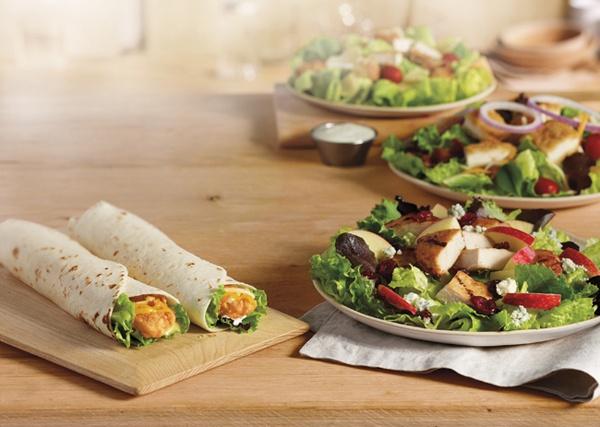 Chicken Snack Wrap, Ranch Crispy Chicken Snack Wrap, BLT Salad, Apple ...