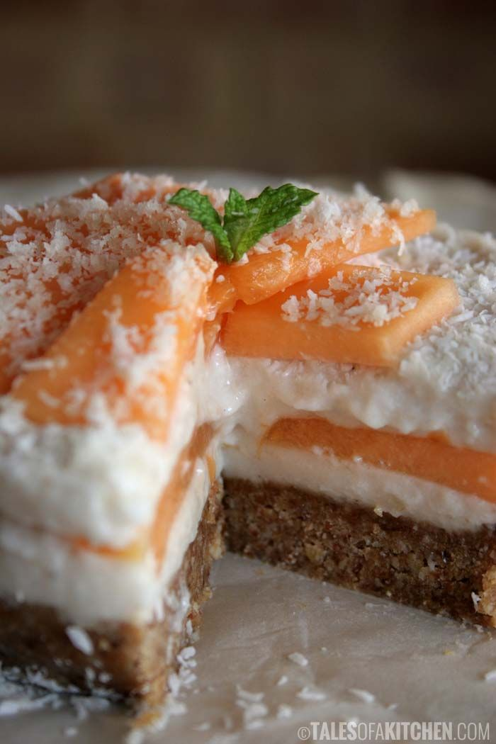 Coconut Rockmelon Mousse Cake: the sweet taste of summer in every ...