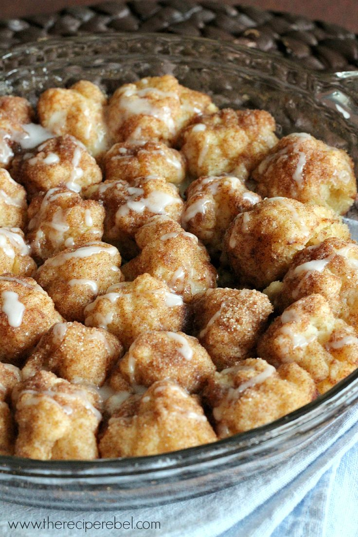 Cinnamon Roll Bites - homemade biscuit dough makes these super easy ...