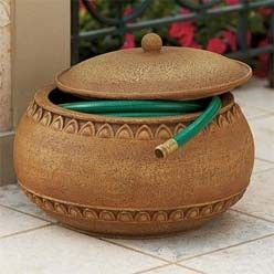 Garden Hose Bowls with Lids