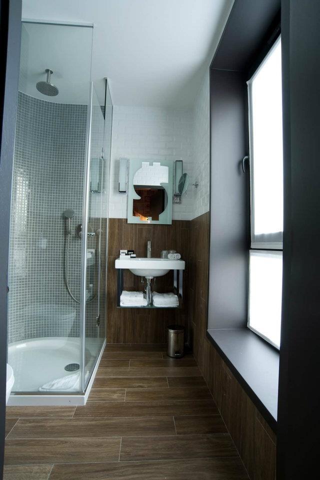 carrelage imitation parquet  salle de bain  Pinterest