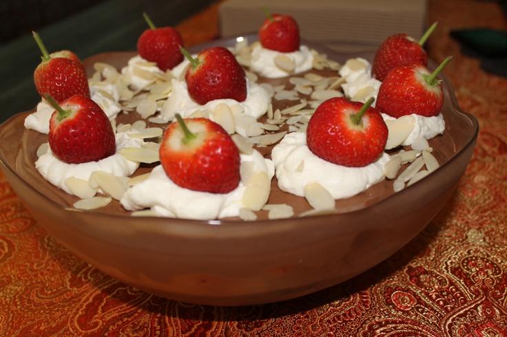 trifle. 6 layers - Chocolate cake soaked in Triple Sec (orange ...